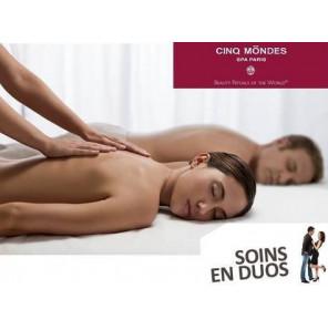 SOINS EN DUO - 60 min de soins CINQ MONDES pour 2 p