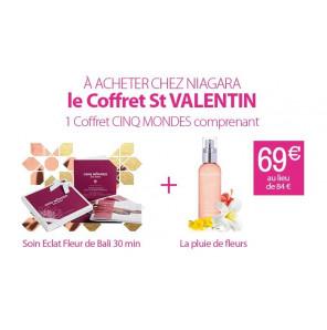 Coffre St Valentin 30 min soin Visage + La Pluie de Fleurs